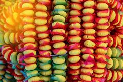 Kanom Puang Ma Lai, Thai cookie bunch with string as souvenir. - stock photo