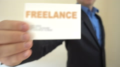 Freelance Present Business Card Stock Footage
