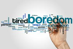 Boredom word cloud - stock photo