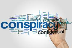 Conspiracy word cloud - stock photo