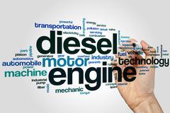 Diesel engine word cloud Stock Photos