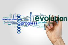 Evolution word cloud concept - stock photo