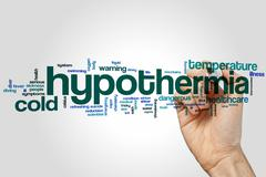 Hypothermia word cloud - stock photo