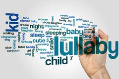 Lullaby word cloud - stock photo