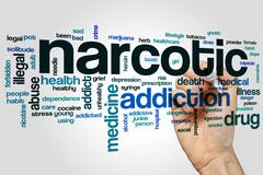 Narcotic word cloud - stock photo