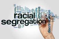 Racial segregation word cloud - stock photo