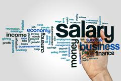 Salary word cloud Stock Photos