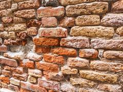 Brick wall of venezia Stock Photos