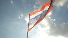Thailand national flag Stock Footage