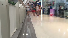 Time lapse People walking Shopping mall timelapse Pedestrian mall Stock Footage