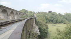 World famous Chirk Aqueduct built in 1801 by Thomas Telford Stock Footage