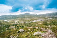 Amazing nature of the Norwegian mountains landscape. Nature of N - stock photo