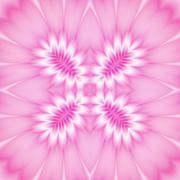 Seamless decorated pattern in pink - stock illustration