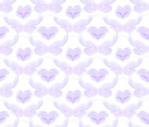 Seamless pattern in violet on white - stock illustration