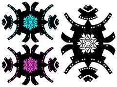 Trendy style tattoo design. Hipster ornament - stock illustration