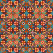 Square flower pattern symmetrical - stock illustration