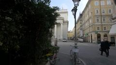People walking in Piazza Sant Antonio Nuovo in Trieste - stock footage
