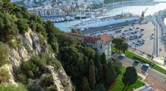 View from the top of the port in Nice Stock Photos
