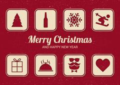 """To do"" list for Christmas. Fun Christmas card. Flat design. Stock Illustration"