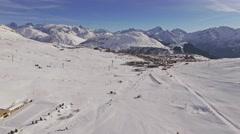Over Alpe D'Huez Aerial 4k Stock Footage