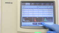 Stock Video Footage of Modern high-performance automatic hematology analyzer with autoloader