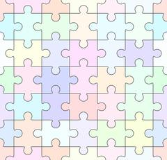 Jigsaw puzzle blank seamless template - stock illustration