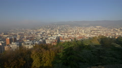 Amazing cityscape seen from Forense Roman Basilica in Trieste Stock Footage