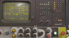 The automatic controller of the machine - stock footage