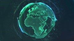 Earth Shine-Background Looped Stock Footage