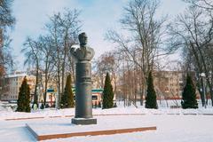 Monument of Gromyko in Gomel, Belarus - stock photo
