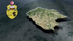 Kef with Coat of arms animation map Stock Footage