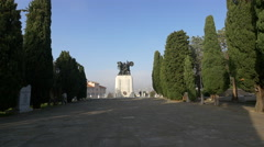 View of the Monument to the Fallen Soldiers of Trieste Stock Footage