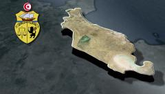 Sousse with Coat of arms animation map - stock footage