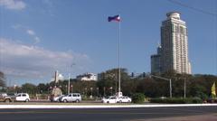 kilometer zero in downtown Manila, Philippines - stock footage