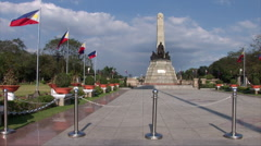 Philippine Soldiers guard the Rizal Monument Stock Footage