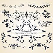 Vector set of design elements - stock illustration