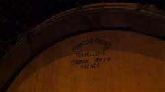 At the back of the wine barrell Stock Footage