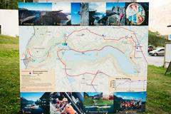Route map near staring point to the mountain attraction - Trollt Stock Photos