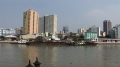 View across the Pasig River from Fort Santiago Stock Footage