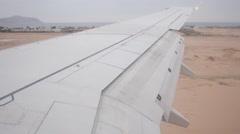 Plane landing at Sharm El Sheikh Stock Footage