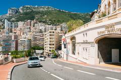 Movement of vehicles on street city in Monaco, Monte Carlo - stock photo