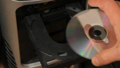 Holding New CD Stock Footage