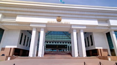 Supreme Court of the Republic of Kazakhstan timelapse hyperlapse. Astana Stock Footage