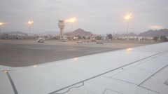 The plane at the airport of Sharm El Sheikh Stock Footage