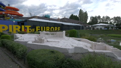 The Acropolis displayed at the Mini-Europe, Brussels Stock Footage