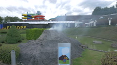 Mount Vesuvius from Italy displayed at the Mini-Europe, Brussels Stock Footage