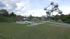 Airport displayed at the Mini-Europe, Brussels Stock Footage
