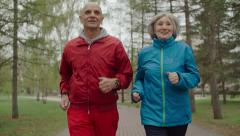 Sporty Pensioners Stock Footage
