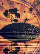 Freedom Concept Background Stock Illustration