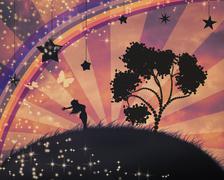 Freedom Concept Background - stock illustration